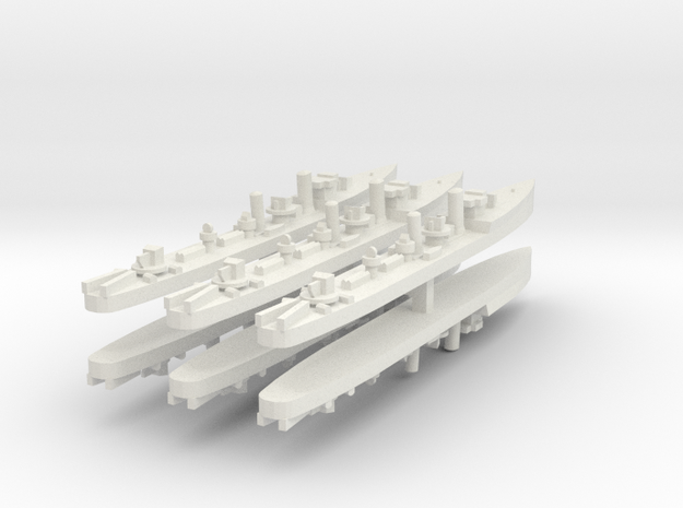 Admiralty S Destroyer (Std) 1:1800 x6 3d printed
