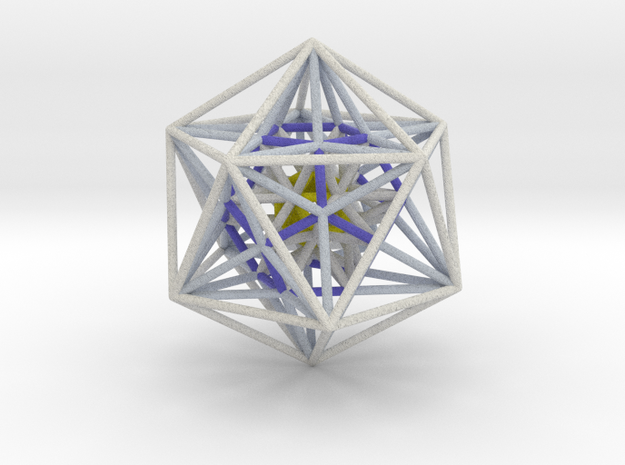 Icosahedron Dodecahedron nest White 100mm 3d printed