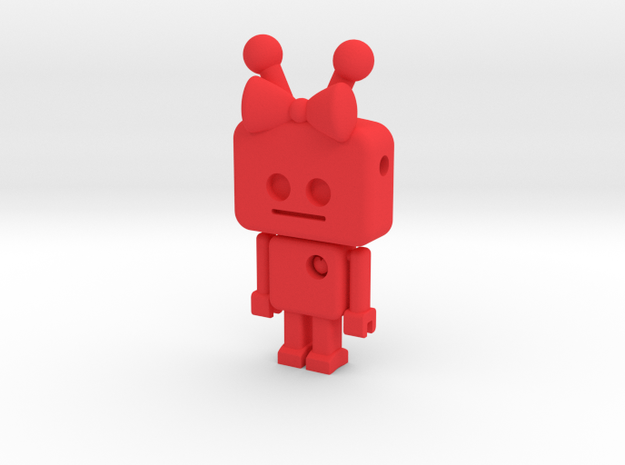 tiny Girl Robot pendant 3d printed