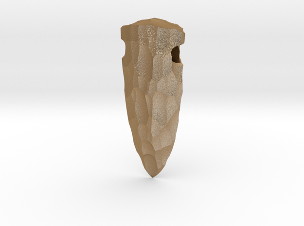 spear tip stone age pendant 3d printed