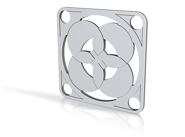 Square Pendant or Charm - Four Petals Bound 3d printed
