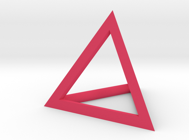 Triangle Pendant - thick 3d printed