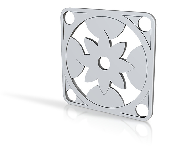 Square Pendant or Charm - Eight Petal Floating 3d printed