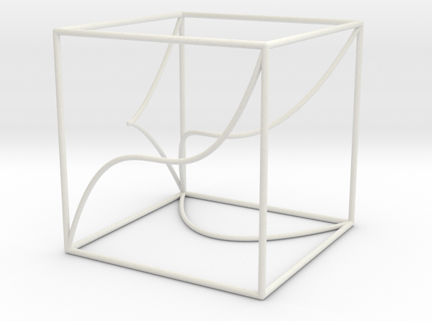Space Curve in Cube Exhibit Size 3d printed