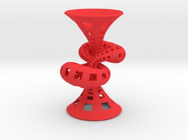 Figure 8 knot trumpet 3d printed