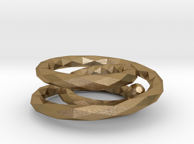 Ring (single-stranded with three turns) 3d printed