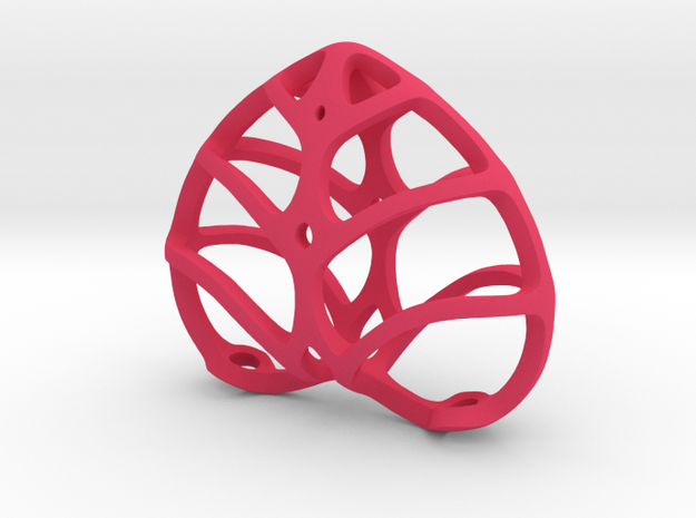 Heart-Shaped Rib-Cage 1.5 Inch 3d printed