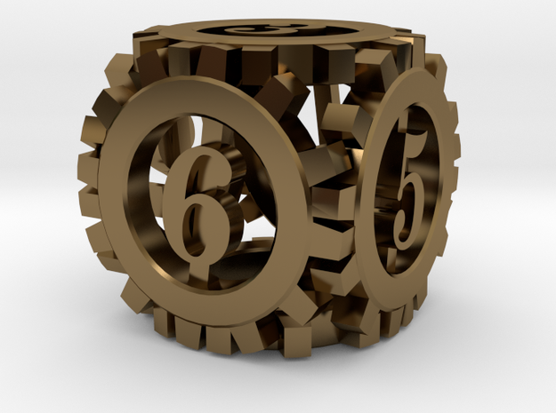Steampunk Gear d6 3d printed