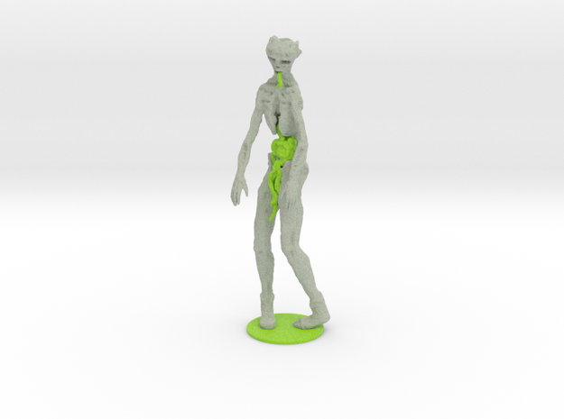 Neon Green Zombie 3d printed
