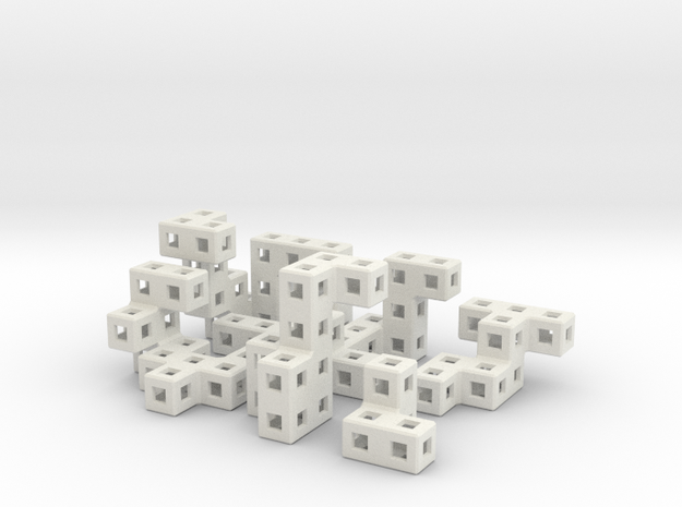 Lock Ness cube puzzle 3d printed