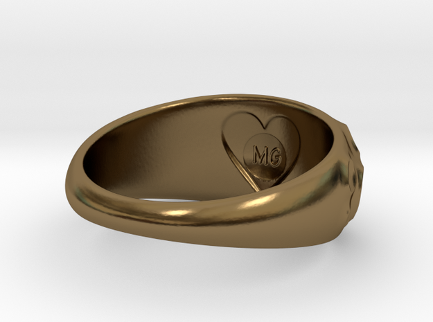 Volcanic Crater Ring 3d printed