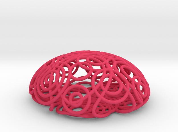 ripple brooch 3d printed