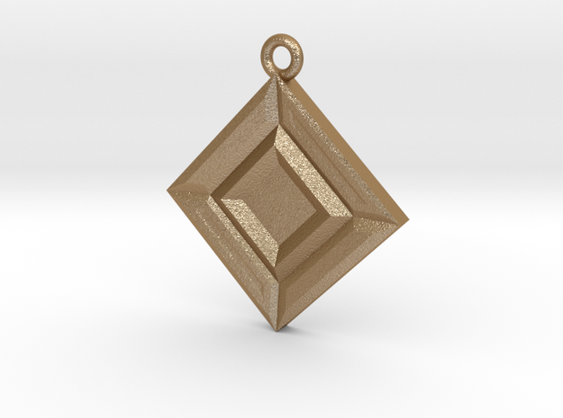 Faceted Opposites Diagonal Pendant 3d printed