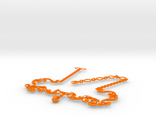Floral Vine Necklace w/ Toggle Clasp in Nylon 3d printed