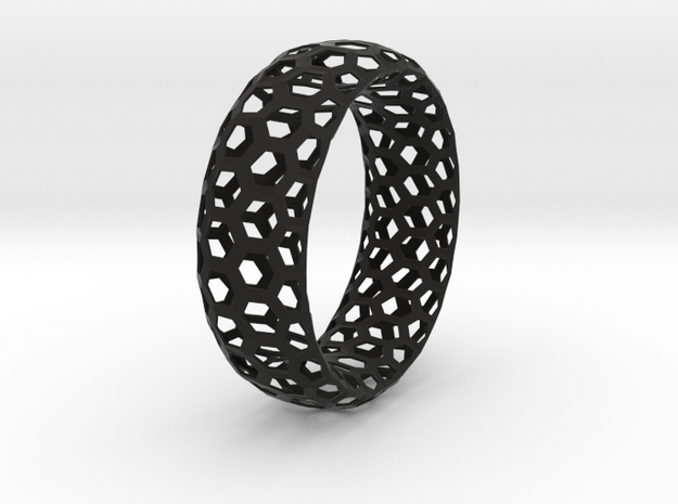 Hexagon Pattern Bracelet Thin Version 3d printed