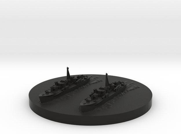 Fairmile D Motor Torpedo Boat Section 1/1800 scale 3d printed
