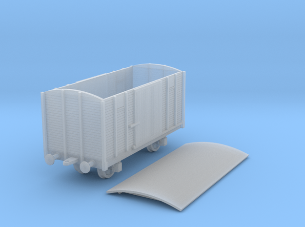 1/100 (15mm) Soviet 2 axle box car 3d printed