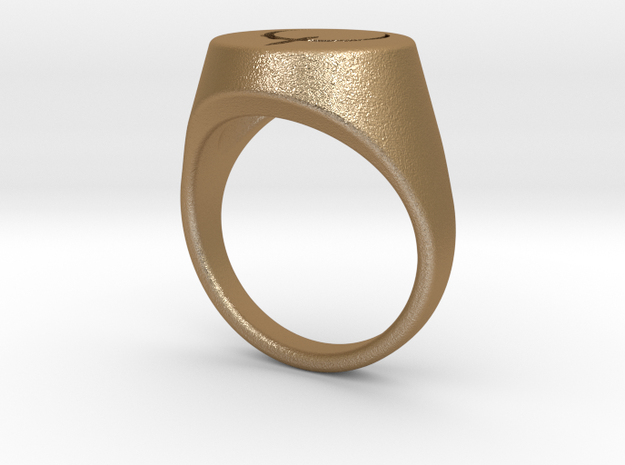 Quake Live signet ring. US size 10 3/4 UK size V 3d printed