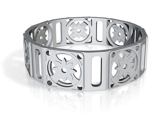 Bangle - Eight Petal Supported 3d printed