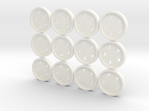 "5/8"" five-holed buttons (dozen) 3d printed"