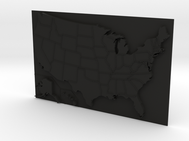 USA Map 180mm 3d printed