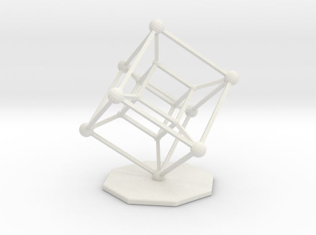 Hypercube 3d printed Available in a variety of materials