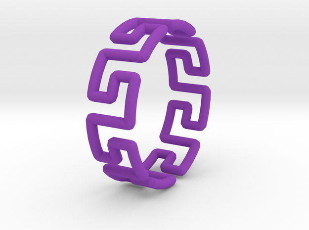 Greek Ring 3d printed