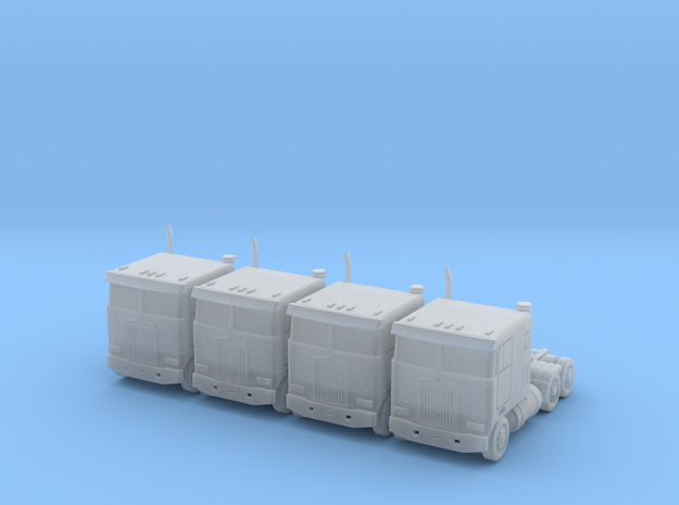 Kenworth Cabover Semi Truck - Set - Zscale 3d printed