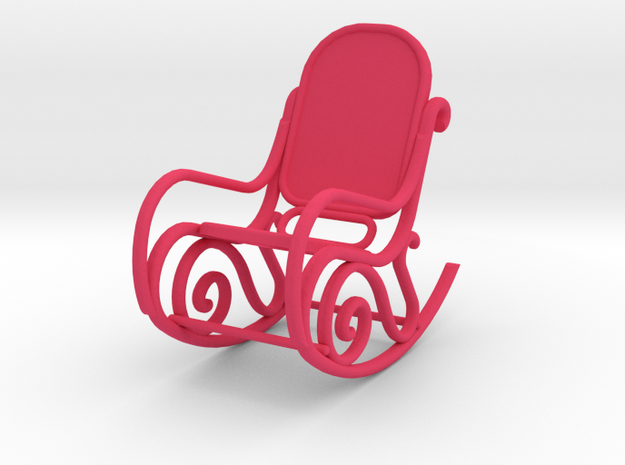 1:24 Bentwood Rocking Chair 3d printed