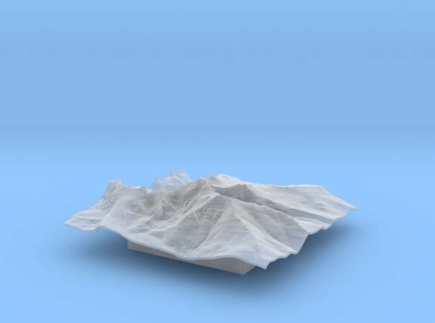 4'' Longs Peak Terrain Model, Colorado, USA 3d printed
