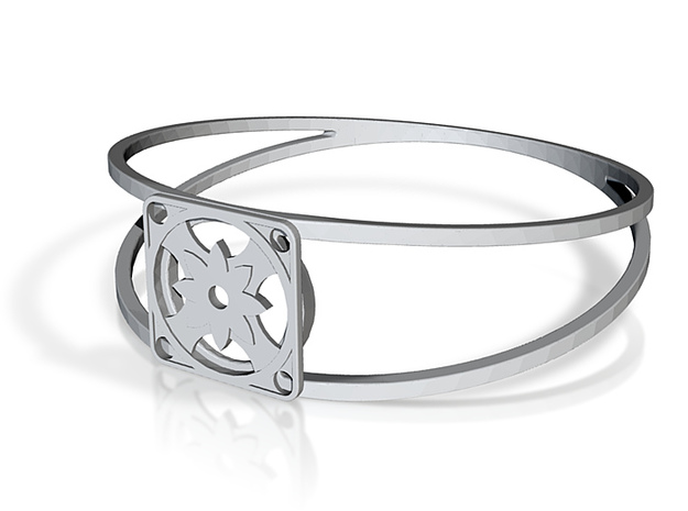 Elegant Bangle - Eight Petal Supported 3d printed