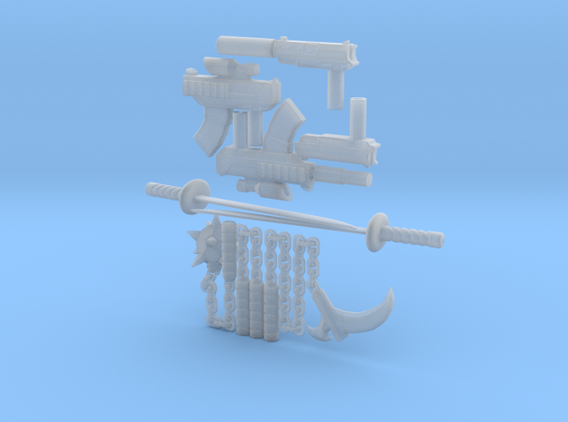 Micro Munny All Weapons 3d printed