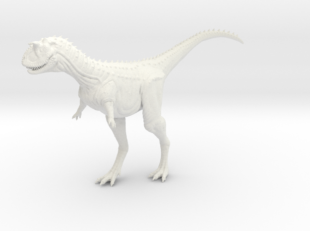 Carnotaurus 1/72 - Standing 3d printed Printed in Frosted Ultra Detail