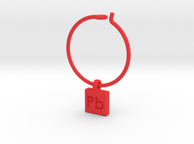 Element Wine Charm - Pb 3d printed