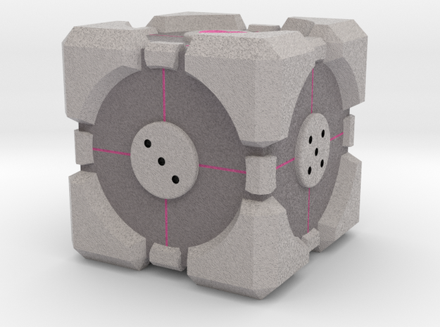 D6 Companion Cube Colored