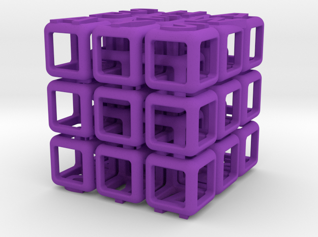 Shapeways Interlocked Cubes 3d printed