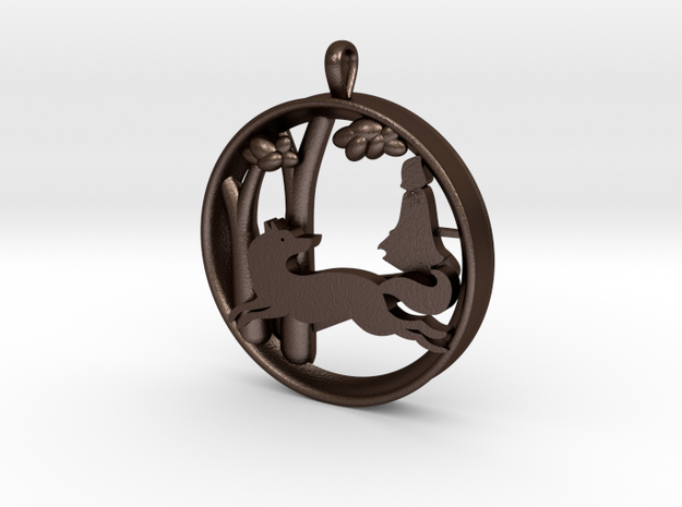 "Children's Wall Charm ""Little Red Riding Hood"" 3d printed"