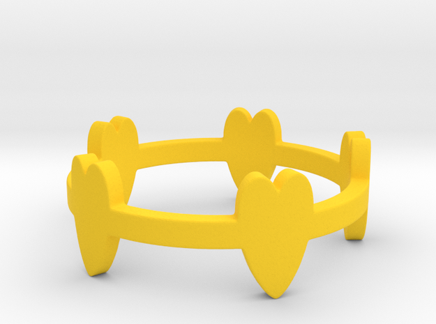 Cuoricini / Small Hearts Ring Size 8 3d printed