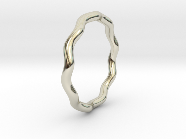 Sine Ring Round 18mm 3d printed