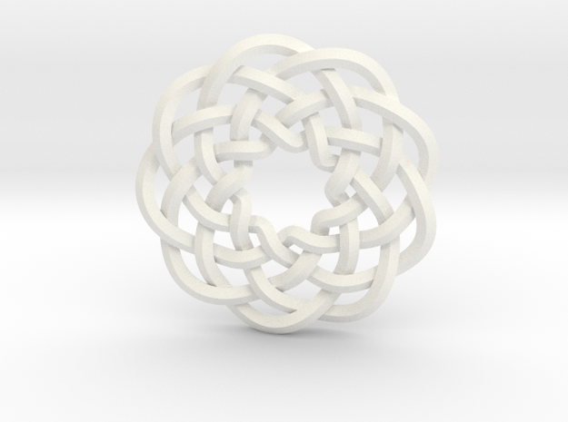 Woven Starburst Pendant 3d printed Pendant printed in stainless steel