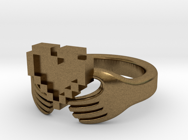 8bit Claddagh Ring 3d printed