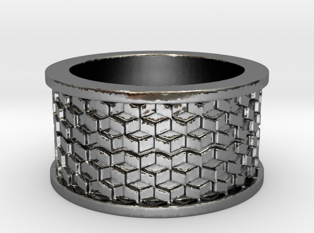 Cubes Ring Ring Size 9 3d printed