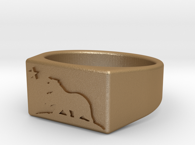 Size 10 - New California Republic ring 3d printed