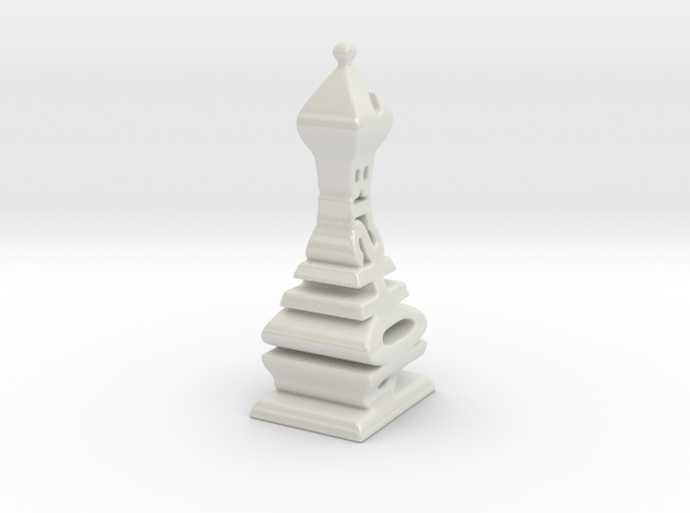 Over Sized Typographical Bishop Chess Piece 3d printed