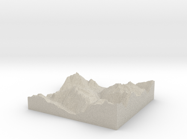 Model of Whistler 3d printed