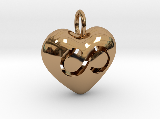 Hollow Infinity Heart Pendant 3d printed