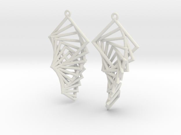 Arithmetic Earrings (Rhombus) 3d printed