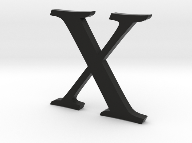 X (letters series) 3d printed