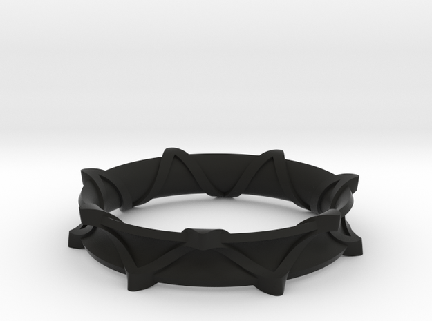 Twisted Star Bangle 3d printed