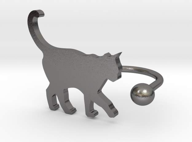 [Ring]Kitty play with a Ball (size 8) 3d printed